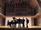 Fredo Jung mit dem Calmus-Ensemble im Konzertsaal der Musikhochschule Lübeck am 10.02.2008.